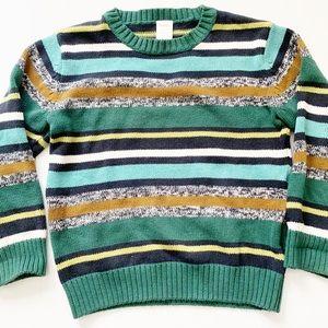 Gymboree kids boys striped cotton sweater small